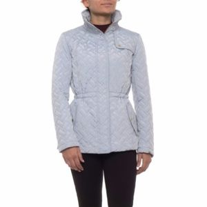 Cole Haan Signature Quilted Jacket M Mist Blue